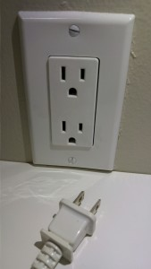 Unplug electronic when not in use.
